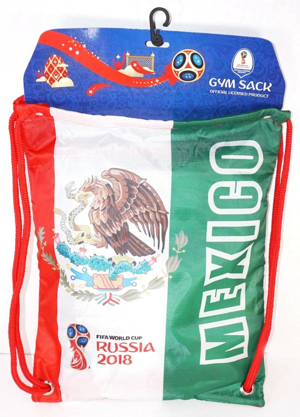FIFA 2018 TEAM MEXICO FUTBOL SOCCER GYM SACK OR DRAWSTRING CINCH BAG ICON SPORTS-EZ Monster Deals