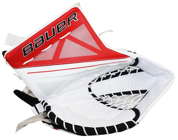 BAUER S170 SUPREME SR - GOALIE GLOVE MITT SENIOR GOAL ICE HOCKEY WT/BLK/RD 2016-EZ Monster Deals