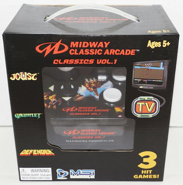 MIDWAY CLASSIC JOYSTICK RETRO TV PLUG N PLAY 3 GAMES BASED ON ARCADE VERSION NEW - EZ Monster Deals