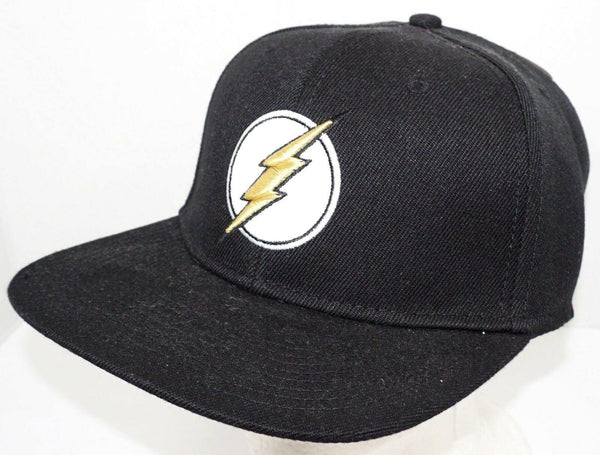 THE FLASH DC COMICS HEROES - BLACK CAP W/ GOLD LOGO HAT 2017 NEW-EZ Monster Deals