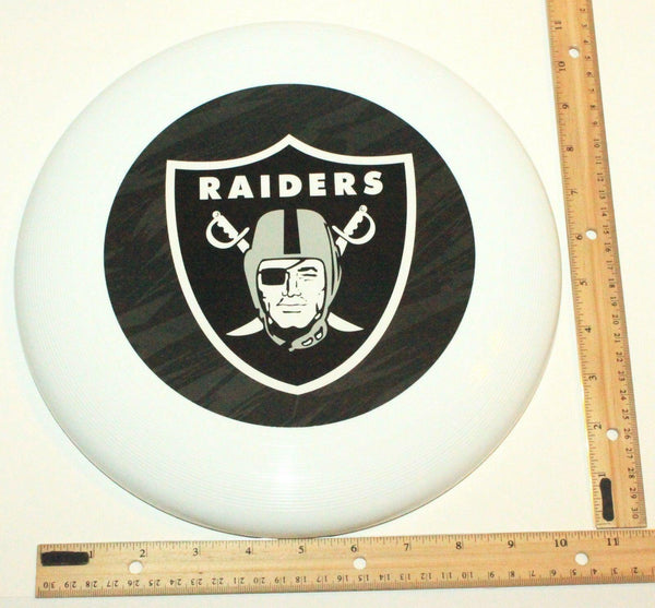 "OAKLAND RAIDERS - NFL FOOTBALL THROWING FLYING DISC 10.75"" TOY NEW"