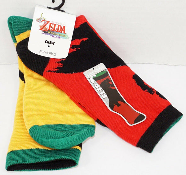 THE LEGEND OF ZELDA WIND-WAKER - REVERSIBLE CREW SOCKS 2016 ADULT 6-12 NEW - EZ Monster Deals