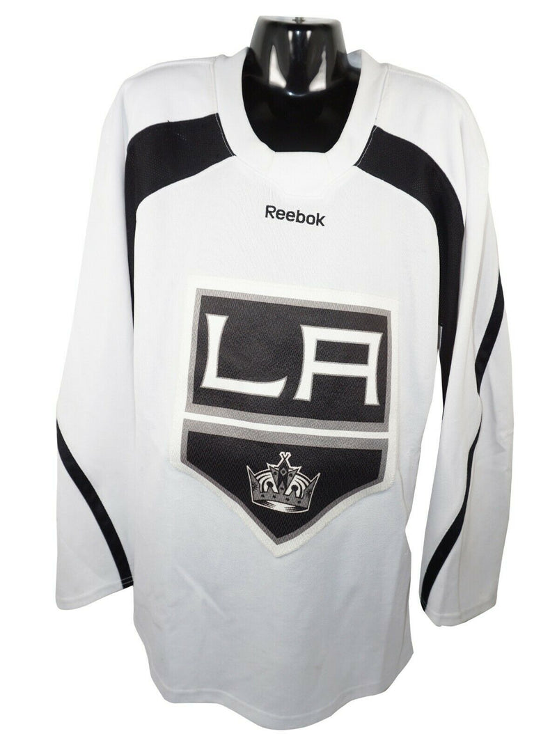 LA KINGS HOCKEY YTH L/XL WHITE REEBOK EDGE JERSEY YOUTH LARGE XLARGE USED 2011