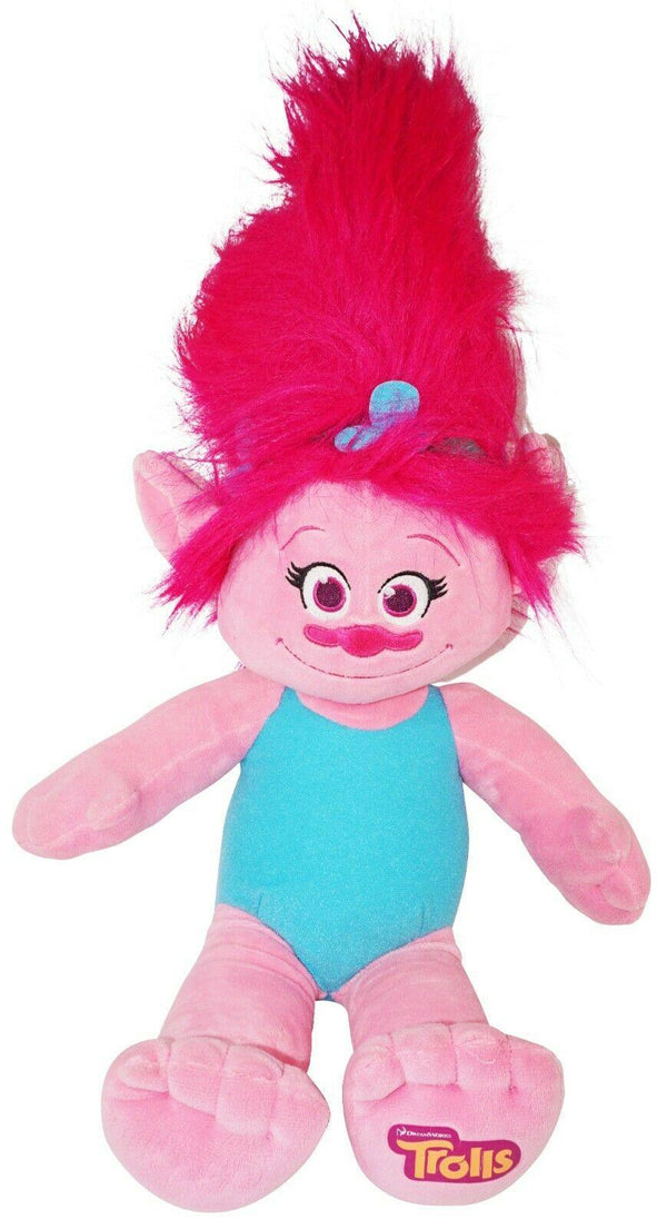 "TROLL POPPY BABW 23"" PLUSH TOY FIGURE - BUILD A BEAR DREAMWORKS USED 2016 - EZ Monster Deals"