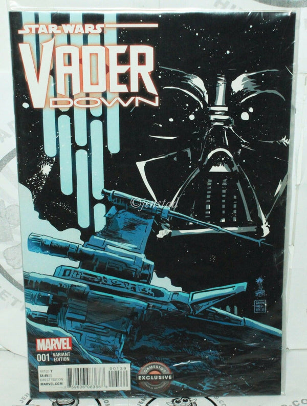 STAR WARS DARTH VADER #001 DOWN GAMESTOP EXCLUSIVE MARVEL COMICS VARIANT EDITION - EZ Monster Deals