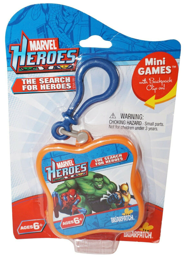 MARVEL HEROES - THE SEARCH FOR HEROES CARD MINI GAME W/ BACKPACK CLIP 2011 NEW - EZ Monster Deals