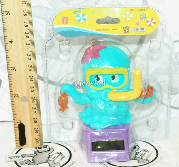 "SOLAR POWER - OCTOPUS WITH SWIM GOGGLES & CRABS ON HAND DANCING TOY 3.75"" FIGURE - EZ Monster Deals"