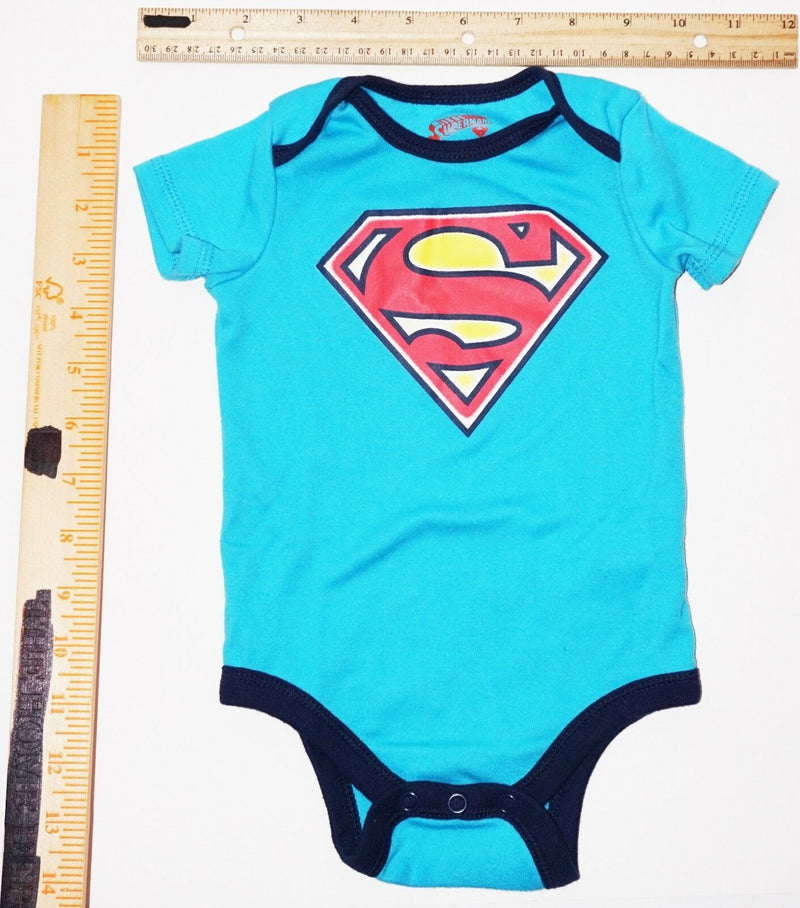 SUPERMAN - DC COMICS ONE PIECE BABY SUIT 3-6 MTH SHORT SLEEVE USED 2015