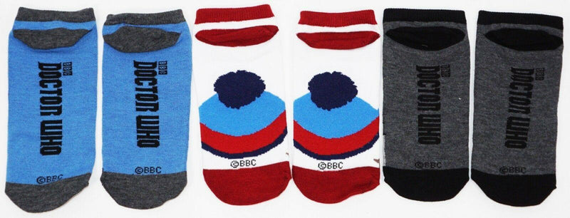 DOCTOR WHO MULTI THEME - LOW CUT SOCKS BBC ADULT 7-12 OS STYLE