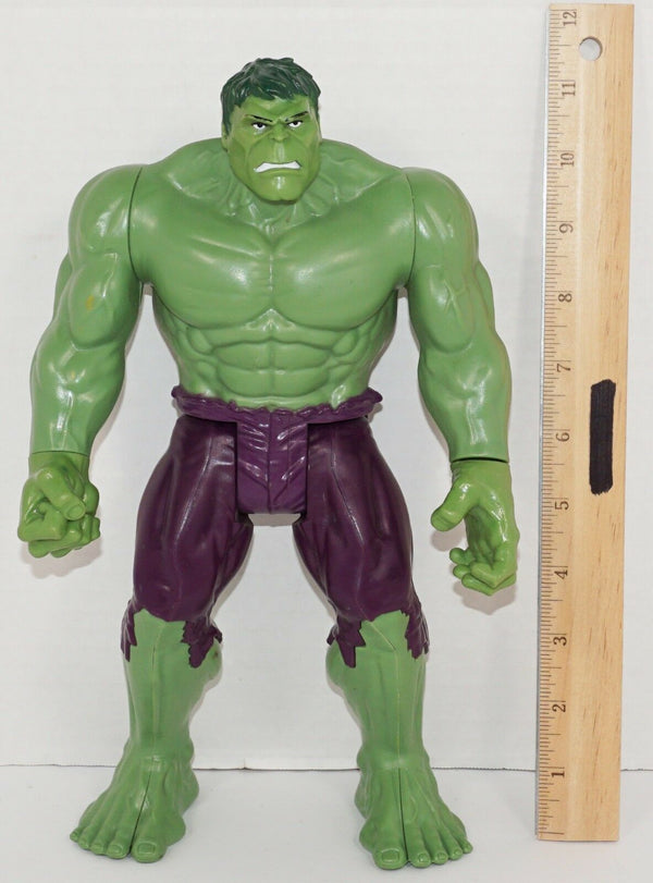 "THE INCREDIBLE HULK TITAN SERIES MARVEL COMICS 11.5"" TOY ACTION FIGURE 2013 USED"