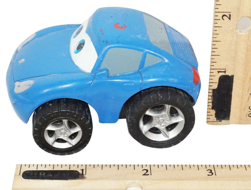 "SALLY FROM DISNEY PIXAR CARS - TOY PULL BACK 3"" BLUE PORSCHE FIGURE USED - EZ Monster Deals"