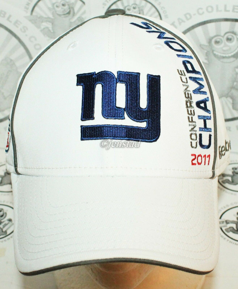 NEW YORK NY GIANTS REEBOK NFL XLVI - NFC CONFERENCE 2011 CHAMPIONS HAT - STYLE 1