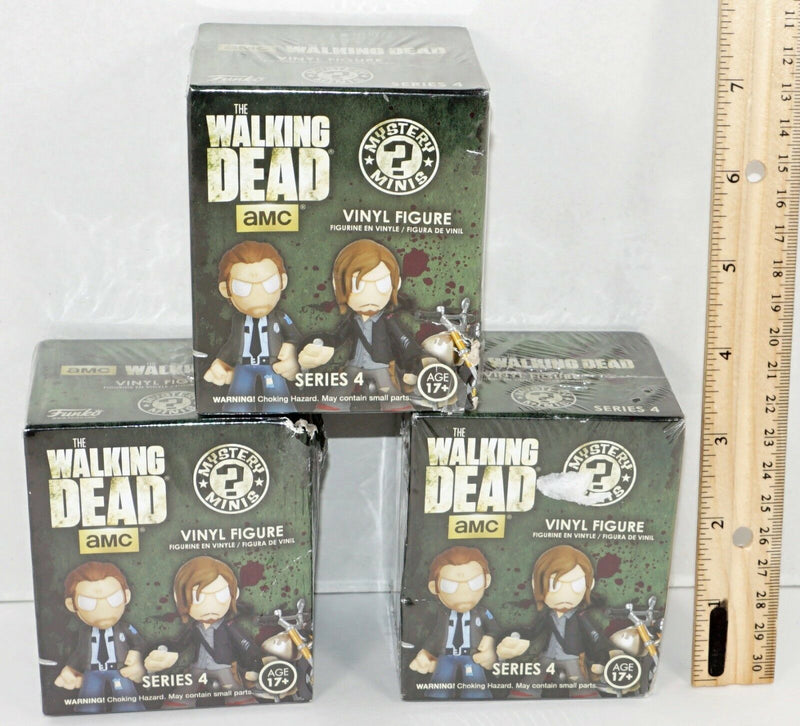 3 LOT - THE WALKING DEAD BLIND BOX SERIES 4 RANDOM TOY FIGURES BASED ON AMC TV - EZ Monster Deals