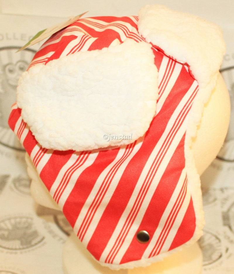 DOG PET M/L STRIPE TRAPPER HAT BOMBER CAP HOLIDAY PET HEAD COSTUME MEDIUM/LARGE-EZ Monster Deals
