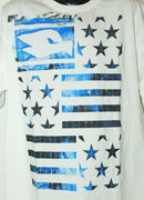 TONY HAWK TSHIRT - STARS AND STRIPES FLAG KIDS YOUTH MEDIUM WHITE SHIRT