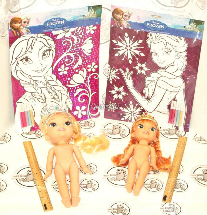 4 LOT DISNEY FROZEN ANNA ELSA W/ TIARAS ROYAL REFLECTION EYES & COLOR FOIL SHEET-EZ Monster Deals
