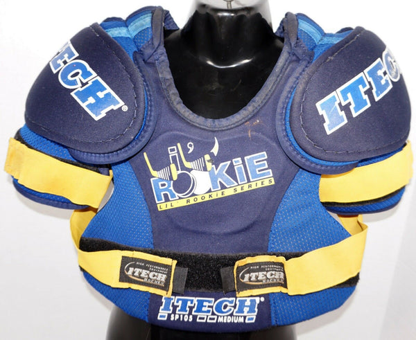 ITECH YTH MEDIUM LIL ROOKIE SP105 CHEST SHOULDER PADS HOCKEY YOUTH PLAYERS USED