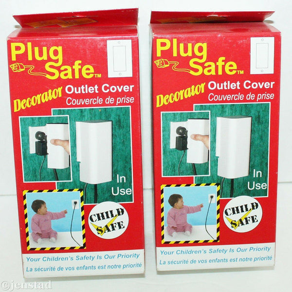 2 LOT PACK PLUG SAFE DECORATOR WIRES OR WALL PLUG OUTLET COVERS BABY CHILD #124 - EZ Monster Deals