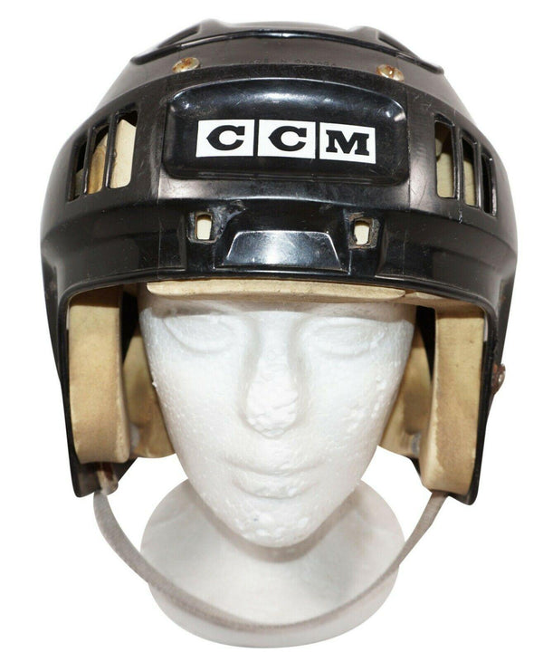 "CCM ICE HOCKEY BLACK HELMET ADULT SR XSMALL TO MEDIUM 19-23.25"" USED VINTAGE 90s - EZ Monster Deals"