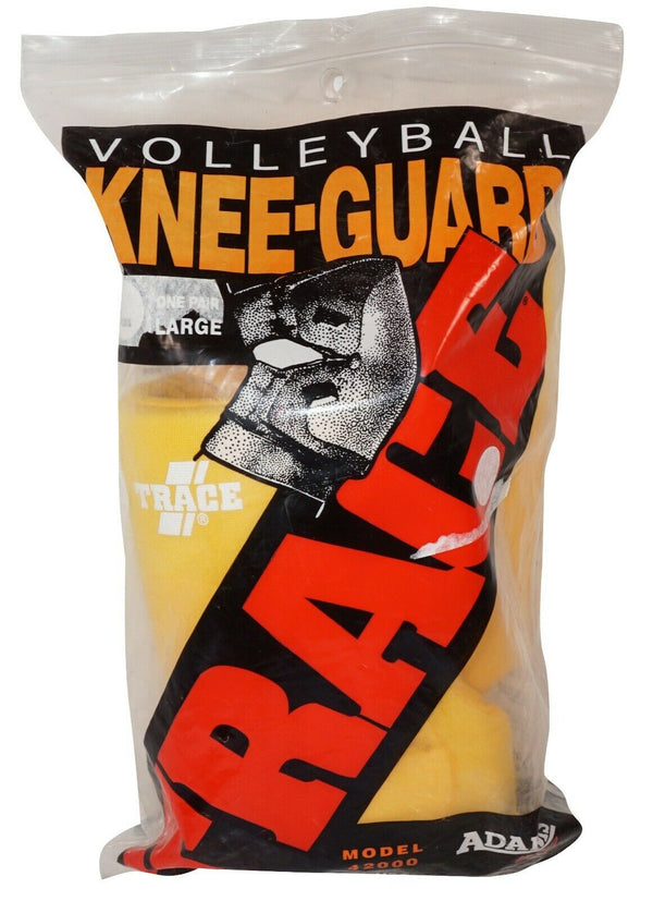 "ONE PAIR - ADAMS TRACE ADULT SMALL YELLOW 8.5"" MULTI-SPORT VOLLEYBALL KNEE PADS-EZ Monster Deals"