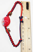 NEW YORK RED BULLS MLS - SINGLE KUKUI NUT + BRAID BRACELET SOCCER FUTBOL NEW - EZ Monster Deals
