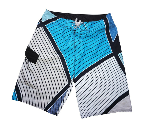 "Quiksilver Board Geometric Blue L Shorts 34"" - Casual or Athletic Wear Men Large"