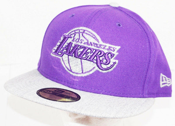 LOS ANGELES LA LAKERS PURPLE HAT NBA BASKETBALL OEM NEW ERA 59FIFTY ADULT 7 3/4 - EZ Monster Deals