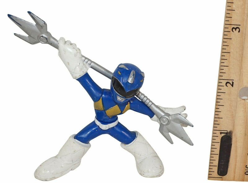 "BLUE POWER RANGER - 2.5"" MINI BATTLE READY TOY FIGURE USED 2009 HTF - EZ Monster Deals"
