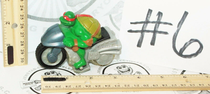6 LOT - RAPHAEL TMNT TEENAGE MUTANT NINJA TURTLES MCDONALDS TOY FIGURES USED