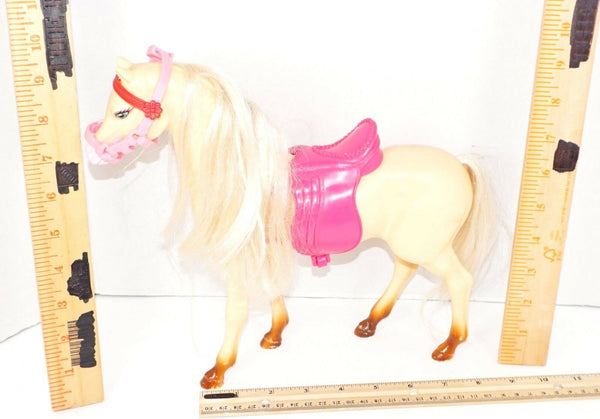 BLOSSOM BEAUTIES BEIGE HORSE TOY FIGURE - FROM BARBIE COLLECTION USED 2002-EZ Monster Deals