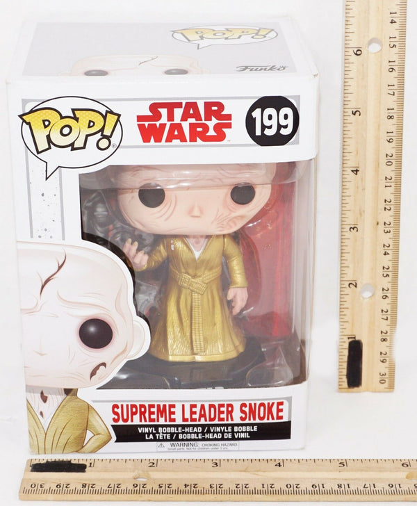 "SUPREME LEADER SMOKE - FUNKO POP! STAR WARS VINYL BOBBLE HEAD TOY 4"" FIGURE NEW - EZ Monster Deals"