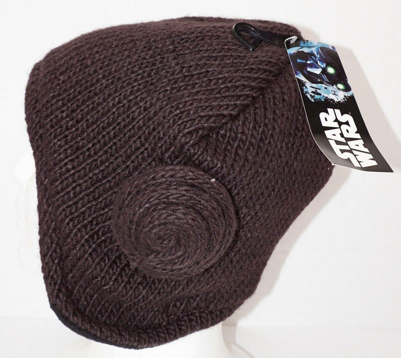 PRINCESS LEIA HAIR BUN DISNEY STAR WARS WINTER KNIT BEANIE CAP UNCUFF REVERSIBLE - EZ Monster Deals