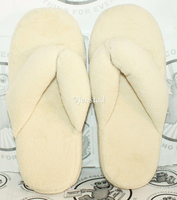 THERAPEUTIC TOE ALIGNMENT INDOOR SLIPPERS CREAM WOMENS MEDIUM 8-9.5 ONE PAIR NEW - EZ Monster Deals