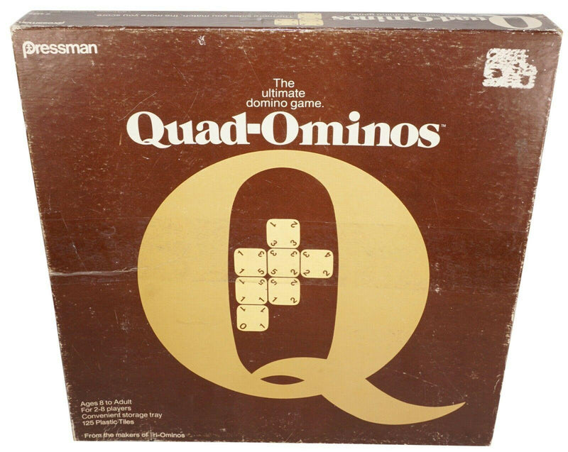 QUAD-OMINOS DOMINO TILE BOARD GAME PRESSMAN MAKERS OF TRIOMINOS VINTAGE 1978 - EZ Monster Deals