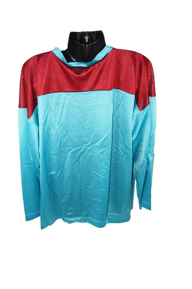 XTREME BASICS YTH L/XL TURQUOISE MAROON HOCKEY JERSEY - YOUTH LARGE XLARGE USED