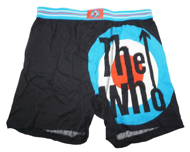 THE WHO ROCK BAND MENS UNDERWEAR MEDIUM - BOXER BRIEFS M BLACK BLUE RED NEW - EZ Monster Deals