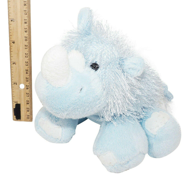 "WEBKINZ FURRY RHINO - PLUSH TOY 5"" FIGURE USED HM196 'NO CODE' - EZ Monster Deals"