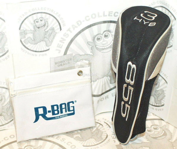 HYB 855 CLUB 3 PROTECTIVE COVER GOLF HEADCOVER & R-BAG POUCH HYBGOLF USED - EZ Monster Deals