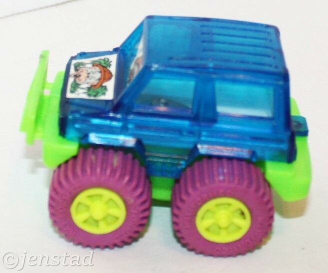 "CHUCK E CHEESE MOUSE 3"" MONSTER 4X4 TOY CAR TRUCK VEHICLE ROLL REV & GO VINTAGE - EZ Monster Deals"