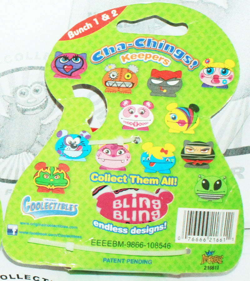 BLING BLING KEEPER CHA-CHING - BUNCH 2 VINYL TOY COLLECTIBLE KEYCHAIN CLIP 2011-EZ Monster Deals