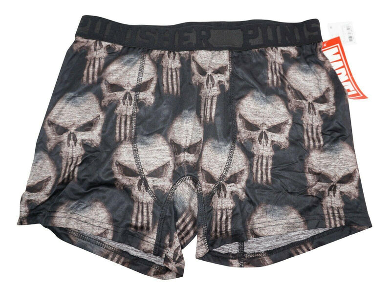 PUNISHER SYMBOL LOGO MEN UNDERWEAR MEDIUM - MARVEL COMIC BOXER BRIEF M BLACK NEW - EZ Monster Deals
