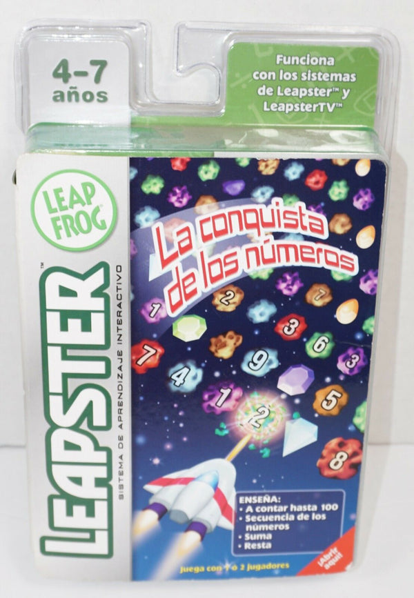 LEAPSTER LEAPFROG SPANISH JUEGO GAME CARTRIDGE - LA CONQUISTA DE LOS NÚMEROS NEW