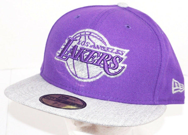 LOS ANGELES LA LAKERS PURPLE HAT NBA BASKETBALL OEM NEW ERA 59FIFTY ADULT 7 1/2 - EZ Monster Deals