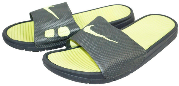 NIKE SLIDE SANDALS BENASSI SOLARSOFT 431884-070 GREY MENS SHOE 11 - NO BOX USED