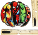 MARVEL COMICS HEROES UNDER GLASS BELT BUCKLE IRON MAN THOR SPIDERMAN ETC 2010