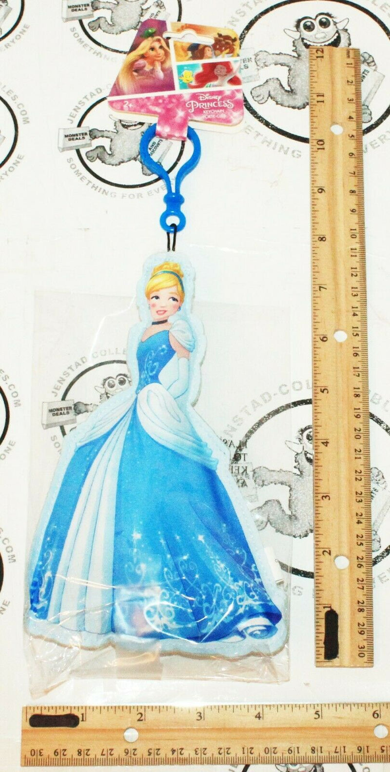 "DISNEY PRINCESS CINDERELLA 7.25"" - CLIP ON PLUSH TOY FIGURE 2017 - EZ Monster Deals"