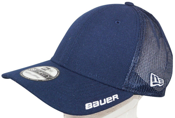 BAUER HOCKEY NEW ERA 39THIRTY ADULT HAT - STRETCH MESH BLUE SMALL MEDIUM 2017 - EZ Monster Deals