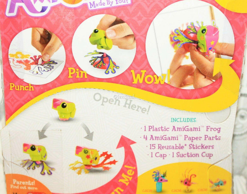 "AMIGAMI FROG MINI TOY 1.25"" MATTEL FIGURES DESIGN & MADE BY YOU NEW 2014 - EZ Monster Deals"