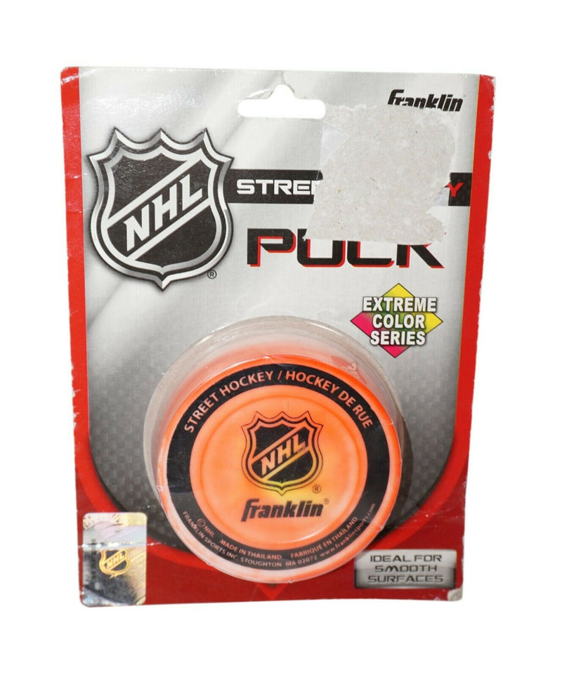 Franklin Sports Nhl Logo Pvc Street Hockey Puck - Extreme Color Series 2014