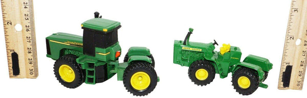 "2 PC LOT - JOHN DEERE FARM TRACTOR BY ERTL DIECAST TOY 3.5"" VEHICLES 1:64 USED"